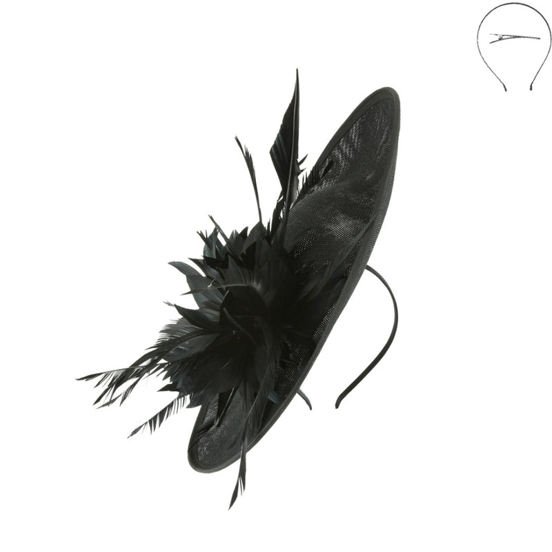 Fascinator Bow Hat with Feather