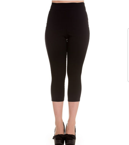 High waist capri-Black - Rockin Bettie
