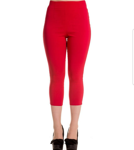 High waist capri Red - Rockin Bettie