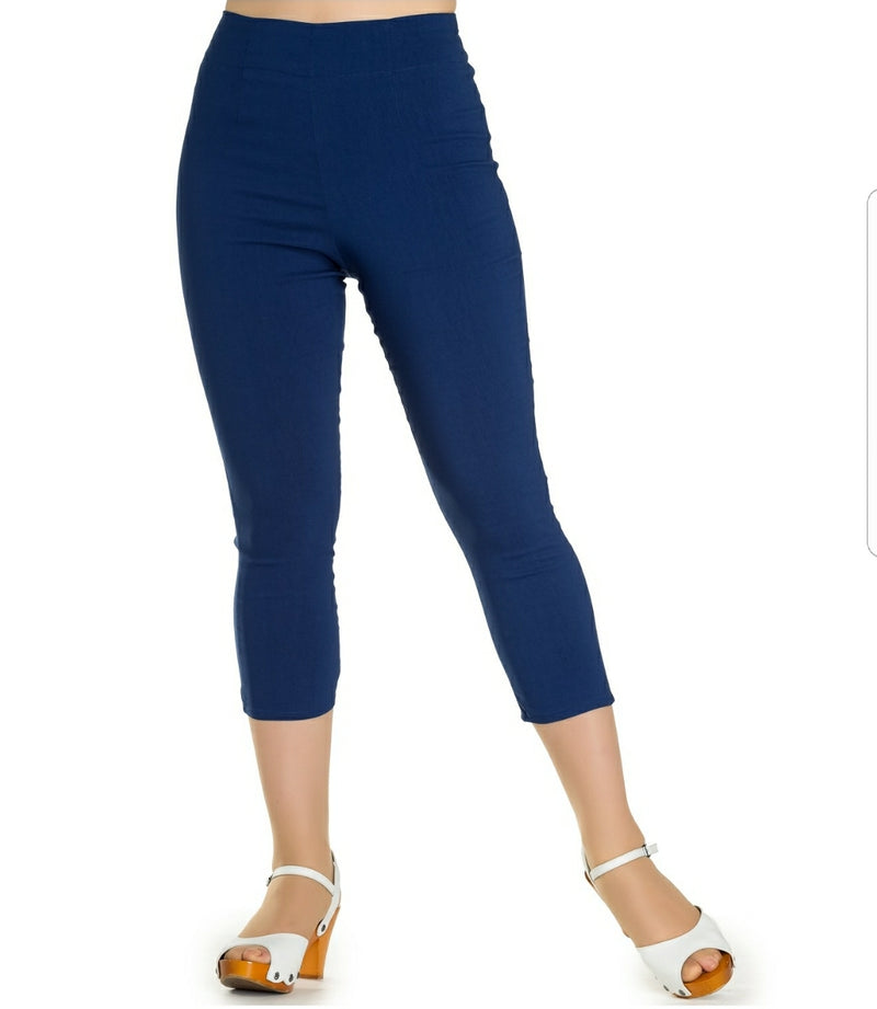 High waist capri Navy - Rockin Bettie