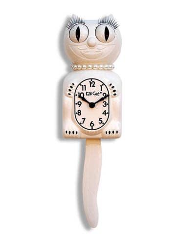 White lady Kit cat clock 15.5""