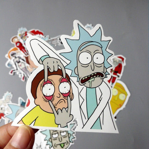 FREE Rick and Morty Vinyl Decal Stickers - 35 Pieces