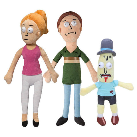 Morty Smith, Rick Sanchez, Mr. Poopybutthole Stuffed Plush Doll Toys Set