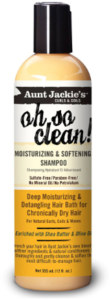 Aunt Jackie's Oh So Clean Moisturizing Shampoo 12oz