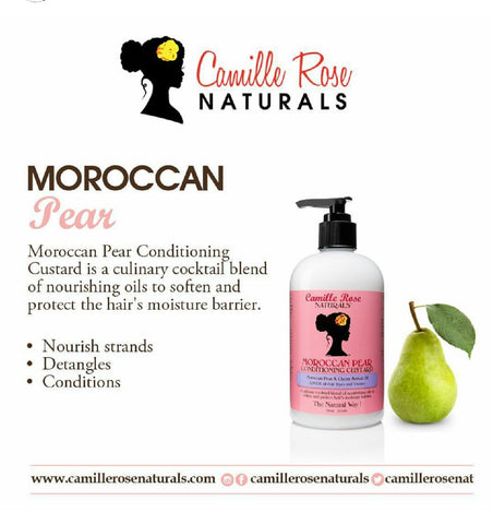 CAMILLE ROSE MOROCCAN PEAR CONDITIONING CUSTARD 12OZ