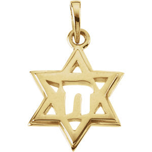 Star of David Chai Pendant