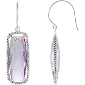 Quartz Rope Design Earrings or Mounting