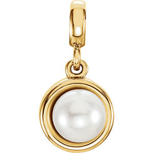 Solitaire Pearl Pendant