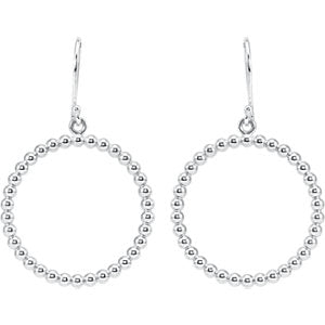 Beaded Circle Silhouette Earrings