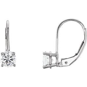Charles & Colvard Moissanite® Lever Back Earrings