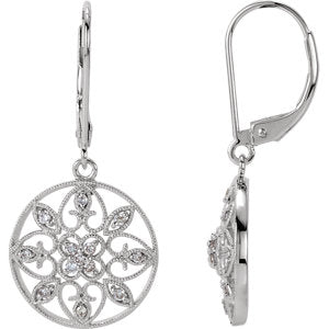 Filigree Lever Back Earrings