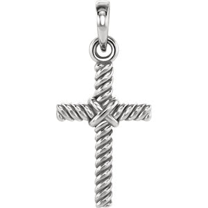 Rope Cross Pendant