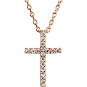 Petite Cross Necklace or Pendant