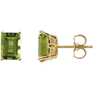Peridot Scroll Setting® Earrings