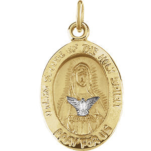 Two-Tone Mary & Holy Spirit Medal
