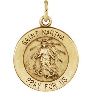 St. Martha Medal Necklace or Pendant