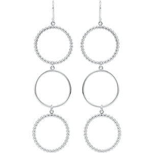 Triple Circle Shaped Dangle Earrings