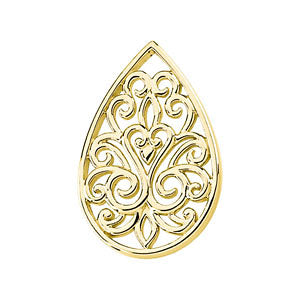 Teardrop Filigree Pendant