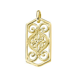 Filigree Scroll Design Pendant
