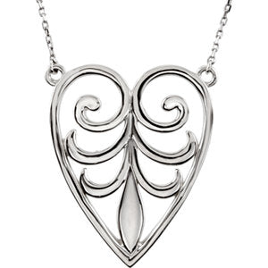 Filigree Heart Necklace or Center