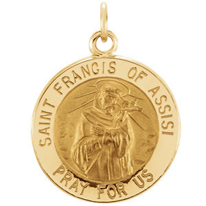 St. Francis of Assisi Medal Necklace or Pendant