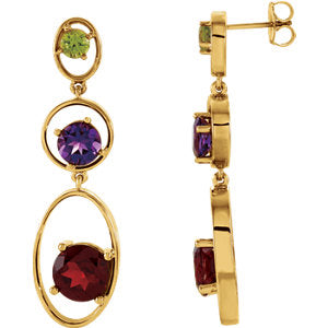 Three-Stone Earrings