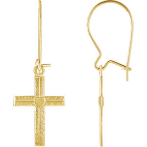 Cross & Heart Earrings