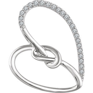 Accented Heart Knot Pendant