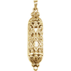 Hollow Mezuzah Necklace or Pendant