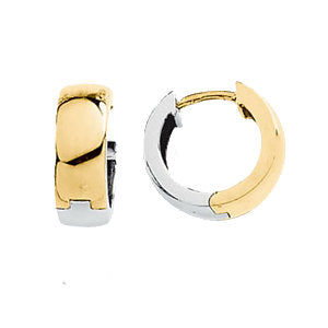 Two-Tone Hinged Earring