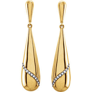 Pierced Teardrop Earrings