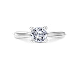 Scott Kay 14k White Gold Solitaire Engagement Ring with Surprise Diamond