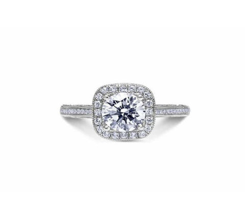 Scott Kay 14k White Gold Parisi Collection Halo Engagement Ring