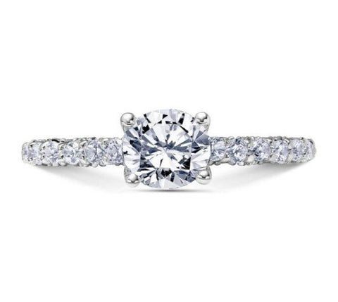 Scott Kay 14k White Gold Heaven's Gate Engagement Ring