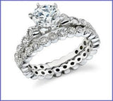 Gregorio 18k White Gold Engagement Ring