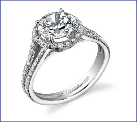 Gregorio Split Shank Halo Engagement Ring
