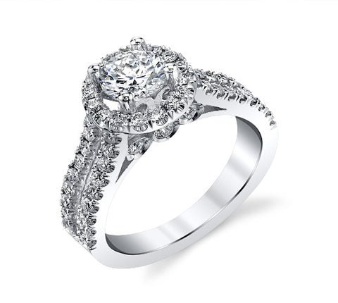 Gregorio 18k Engagement Ring