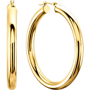 Tube 4 mm Hoop Earrings