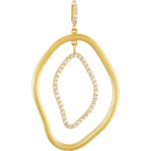 Diamond Open Silhouette Pendant