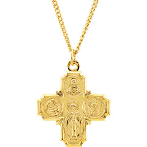 Four-Way Cross Necklace