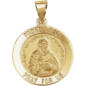 Hollow St. Padre Pio Medal