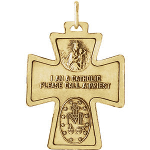 Four-Way Cross Medal Necklace or Pendant