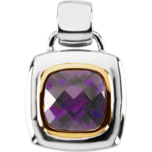 Amethyst Two-Tone Pendant