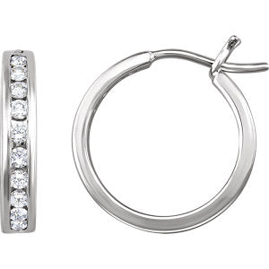 Channel-Set Hoop Earrings