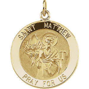 St. Matthew Medal Necklace or Pendant