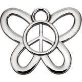 Butterfly Peace Sign Dangle