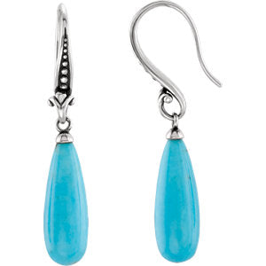 Turquoise Earrings or Mounting