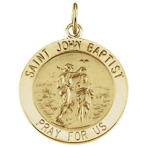 St. John the Baptist Medal Necklace or Pendant