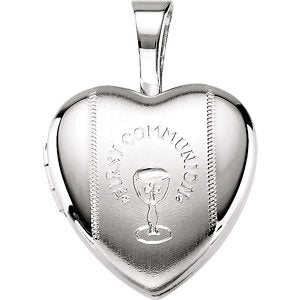 Youth First Communion Heart Locket