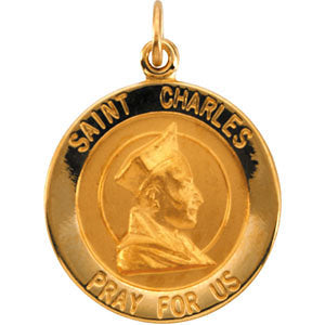 St. Charles Medal Necklace or Pendant